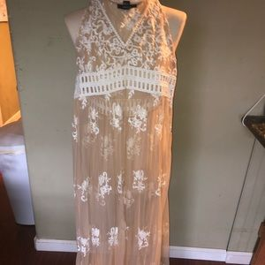 Forever 21 pure lace see-thru long dress Size: S